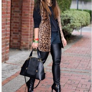 Alice + Olivia Faux Fur Animal Print Vest